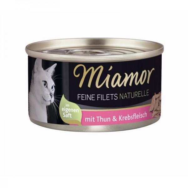 Miamor Feine Filets Naturelle Thunfisch & Krebsfleisch 80g