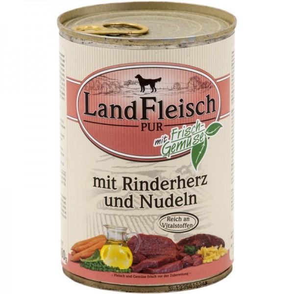 Landfleisch Dog Pur Rinderherzen & Nudeln 400g