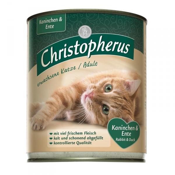 Christopherus Cat Dose für erwachsene Katzen Kaninchen & Ente 800g