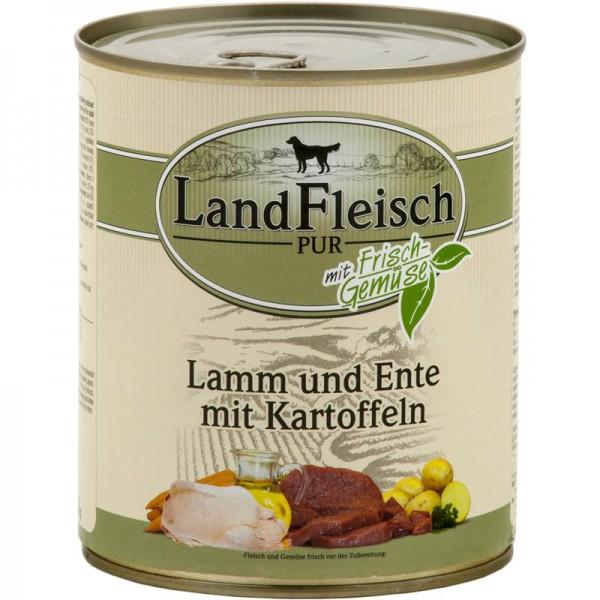LandFleisch Dog Pur Lamm & Ente & Kartoffel 800g