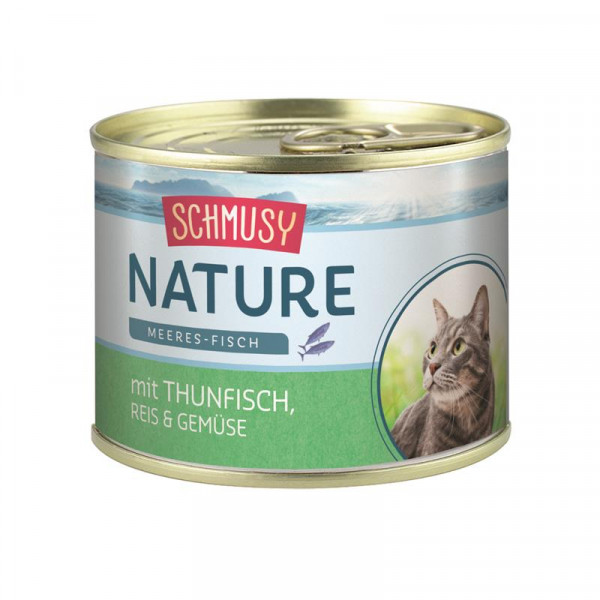 Schmusy Nature Meeres-Fisch Dose Thunfisch, Reis & Gemüse 185g