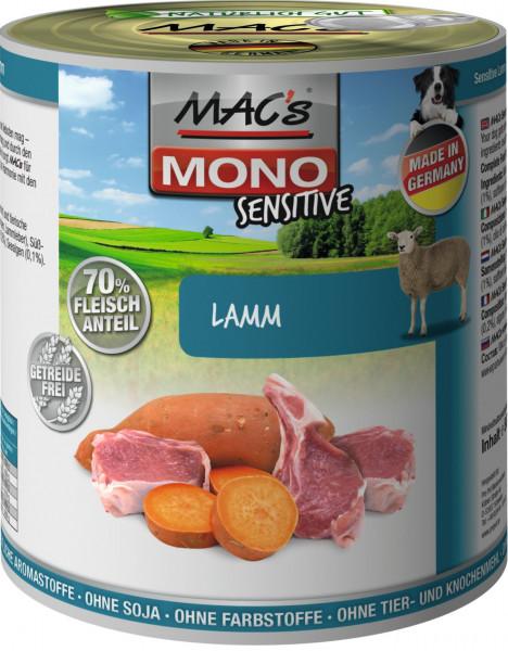 MACs Dog Mono Sensitive Lamm 800g
