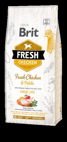 Brit Fresh Chicken 2 x 12kg Spardoppelpack Premium