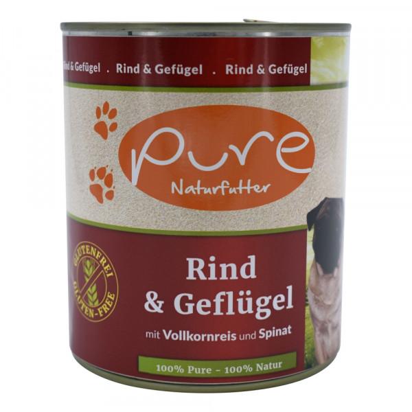 PURE Dog Rind+Gefl GluFr 800g
