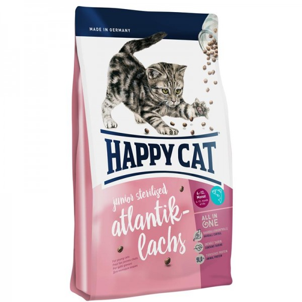 Happy Cat Supreme Junior Sterilised Atlantik-Lachs 4kg