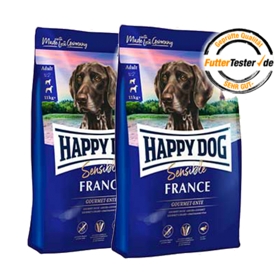 Happy Dog Supreme Sensible France 2x12,5kg