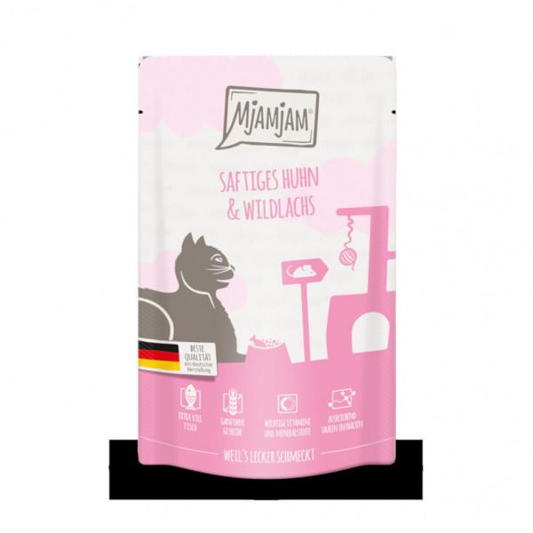 MjAMjAM - Quetschie - Kitten saftiges Hühnchen mit Lachsöl 125 g