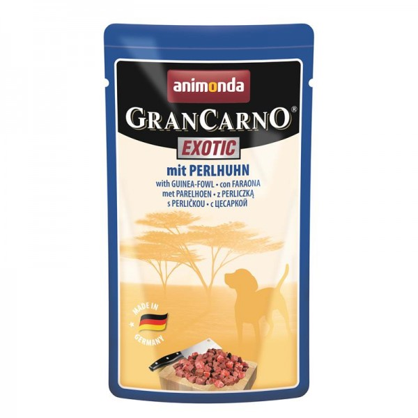 Animonda Dog GranCarno Exotic mit Perlhuhn 125g Portionsbeutel