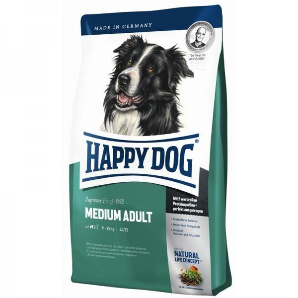 Happy Dog Supreme Fit & Well Medium Adult 12,5kg | Trockenfutter | Hundefutter