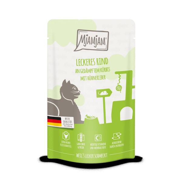MjAMjAM - Quetschie - leckeres Rind an gedämpftem Kürbis 125 g