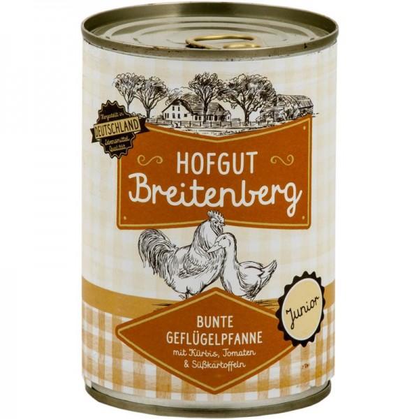 Hofgut Breitenberg Junior Bunte Geflügelpfanne mit Kürbis, Tomaten & Süßkartoffeln 400g