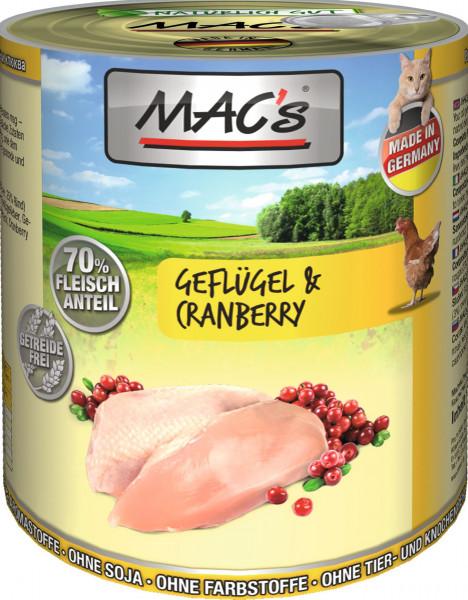 MACs Cat Geflügel & Cranberry 800g