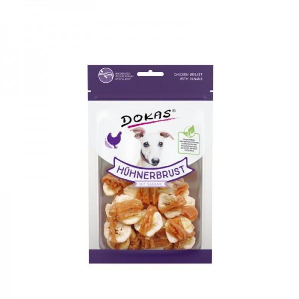 Dokas Hundesnack Hühnerbrustfilet mit Banane 70g