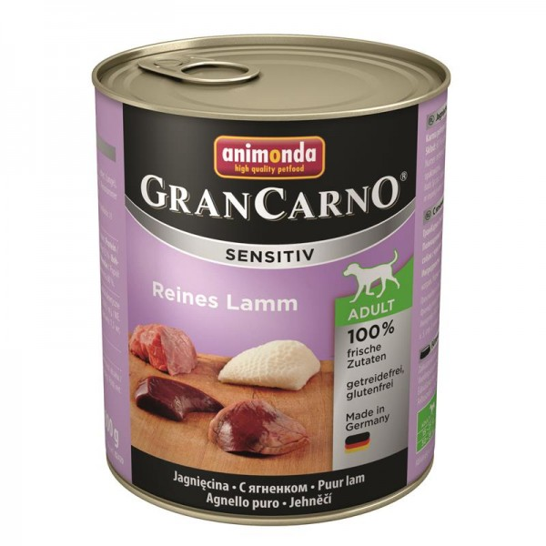 Animonda GranCarno Adult Sensitive Lamm pur 800g