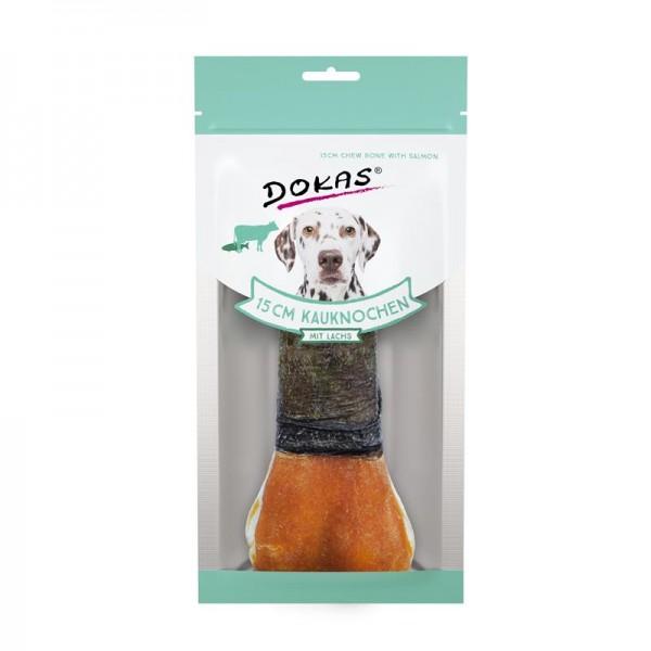 Dokas Hundesnack 15 cm Kauknochen mit Lachs 1 Stück (10x)