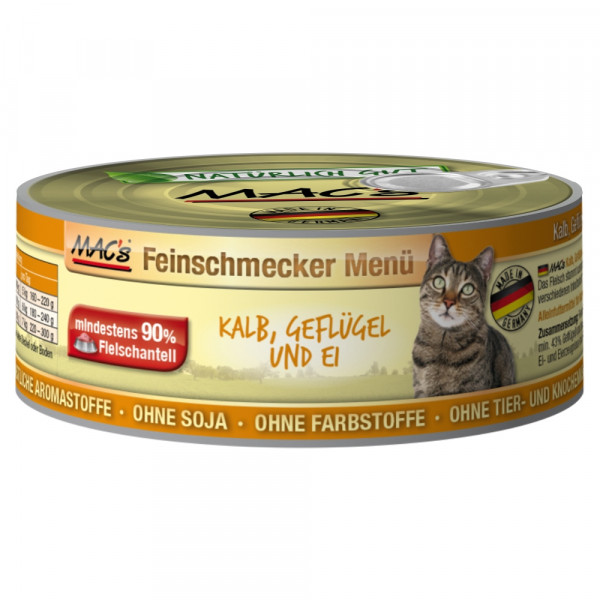 Macs Cat Kalb-Geflügl-Ei 100gD