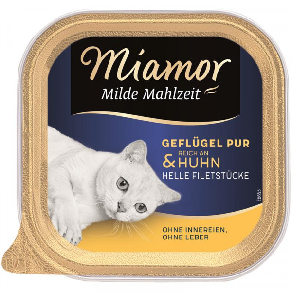 Miamor Schale Milde Mahlzeit Geflügel & Huhn 100g