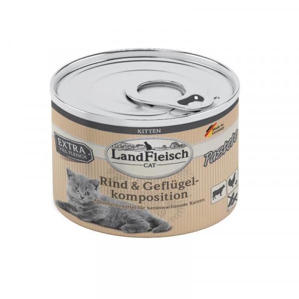 LandFleisch Cat Kitten Pastete Rind & Geflügelkompo. 100g