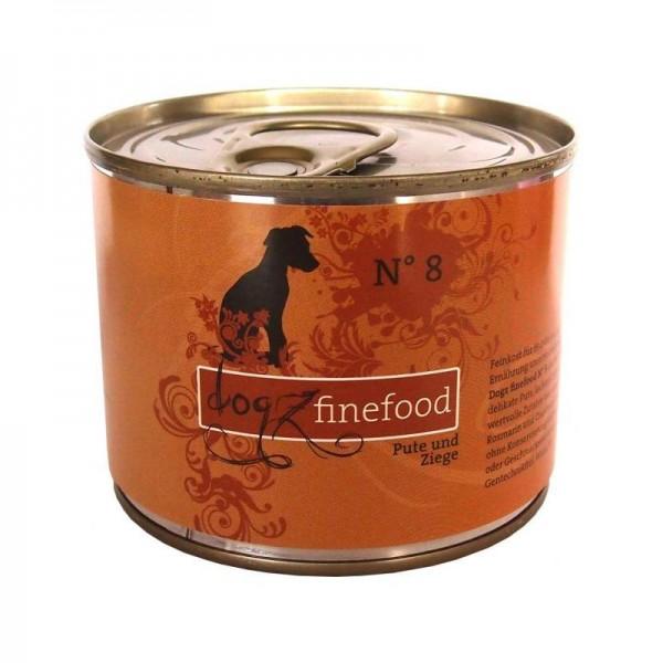 Dogz finefood Dose No. 8 Pute & Ziege 200g
