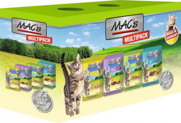MACs Cat Pouchpack Multipack nur Fleisch 12 x 100g