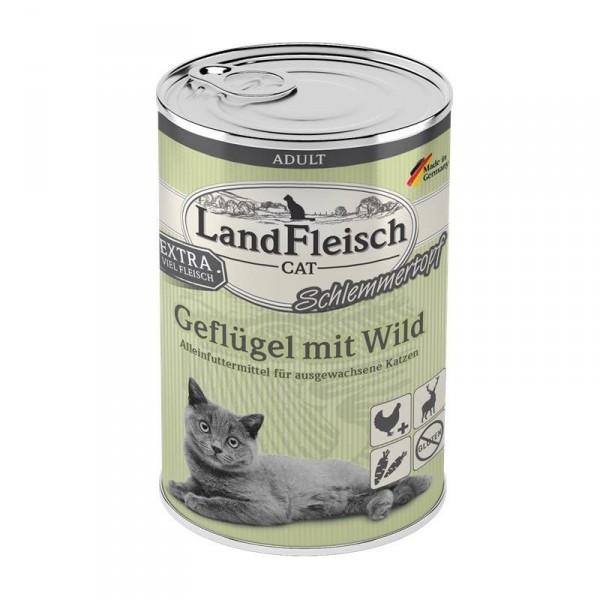 LandFleisch Cat Adult Schlemmertopf Geflügel & Wild 400 g