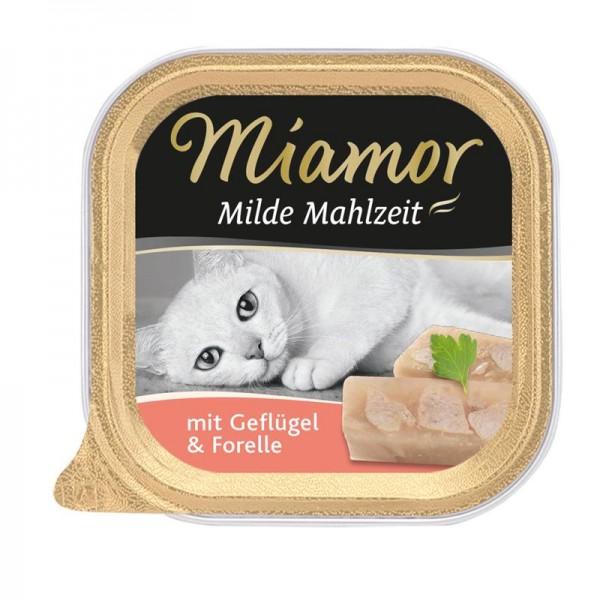 Miamor Schale Milde Mahlzeit Geflügel & Forelle 100g