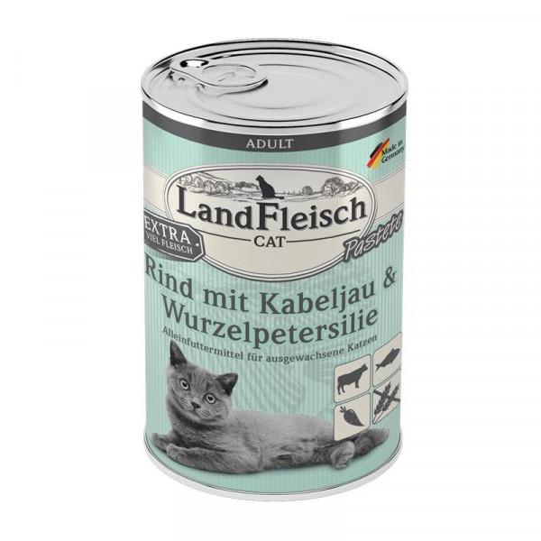 LandFleisch Cat Adult Pastete Rind, Kabeljau, Wurzelpetersilie 400 g