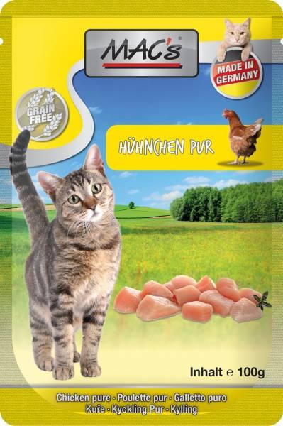 MACs Cat Pouch Pack Hähnchen Pur 100g