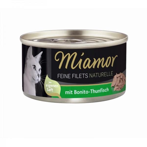 Miamor Feine Filets naturelle Bonito-Thunfisch 80g
