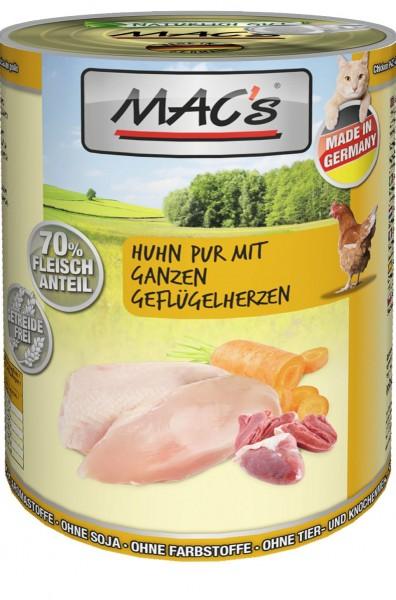 MACs Cat Huhn mit ganzen Geflügelherzen 400g