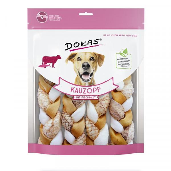 Dokas Hundesnack Kauzopf mit Fischhaut 240g