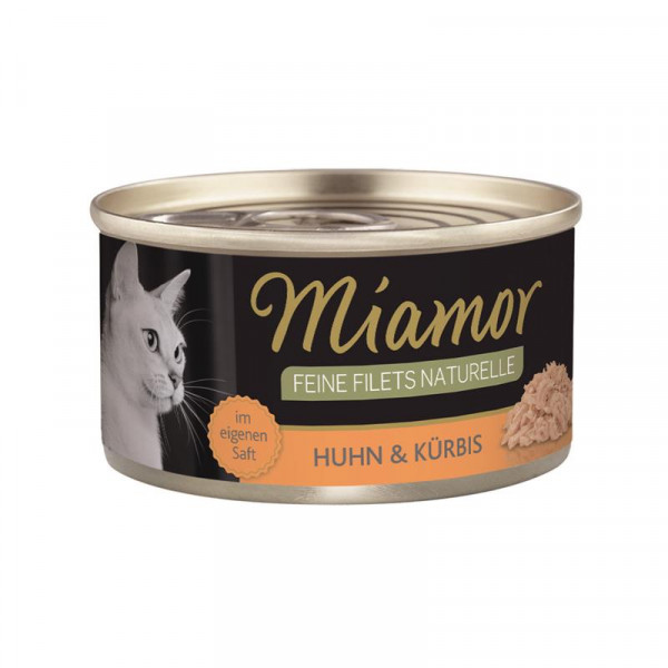 Miamor Feine Filets Naturelle Huhn & Kürbis 80g
