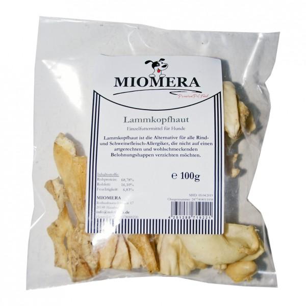 MIOMERA Dog Snack Lammkopfhaut 100g