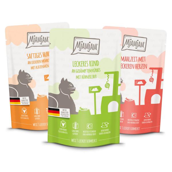 MjAMjAM - Mixpaket I - Huhn, Rind, Herzen 12 x 125 g
