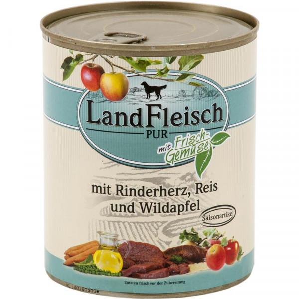 Landfleisch Dog Pur Rinderherz, Reis & Wildapfel 800g SAISONARTIKEL