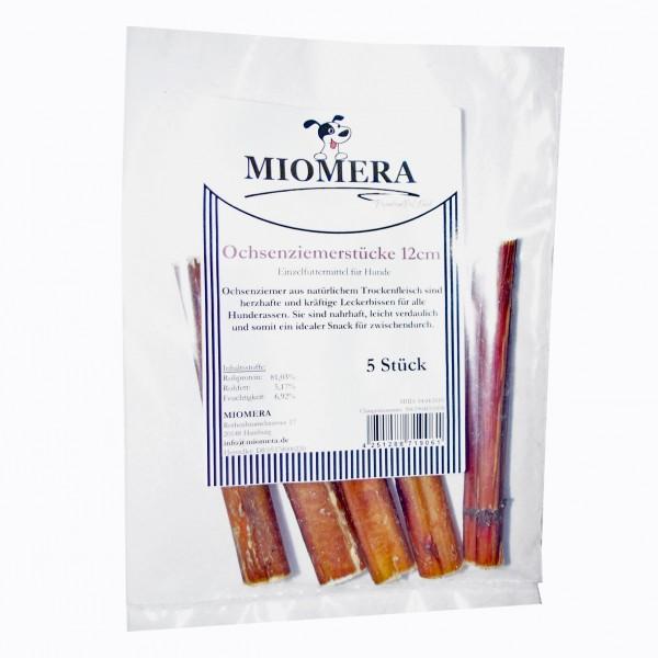 MIOMERA Dog Snack Ochsenziemerstücke 5 x 12cm