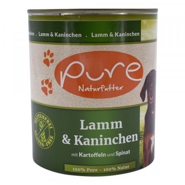 PURE Dog Lamm+Kani GluFr 800g