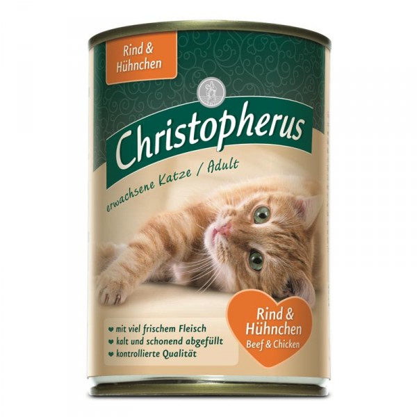 Christopherus Cat Dose Adult Rind & Huhn 400g
