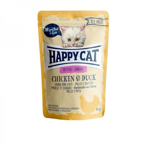 Happy Cat Pouches All Meat Junior Huhn & Ente 85g