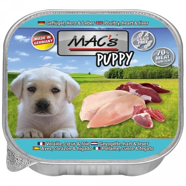 MACs Dog Puppy Geflügel, Herz, Leber 150g