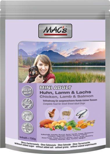 MACs Dog Adult Mini Huhn, Lamm, Lachs 750 g
