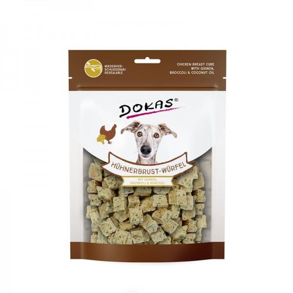 Dokas Hühnerbrust-Würfel mit Quinoa, Brokkoli 150g