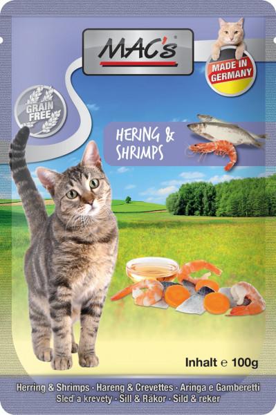 MACs Cat Pouch Pack Hering & Shrimps 100g