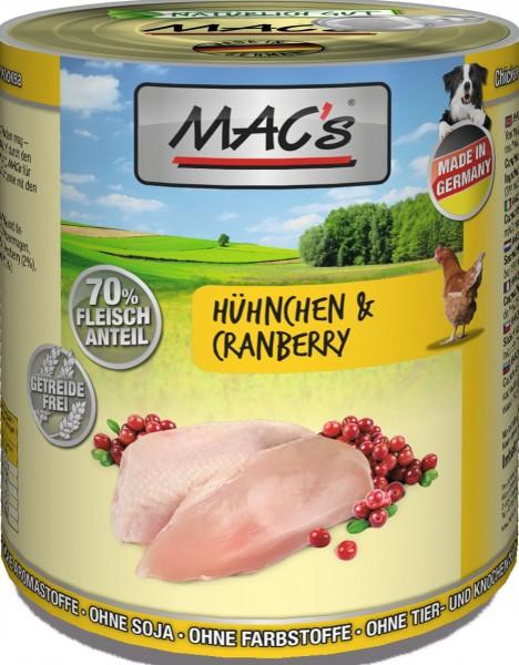 MACs Dog Hühnchen & Cranberry 800g