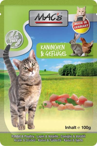 MACs Cat Pouch Pack Kaninchen & Löwenzahn 100g