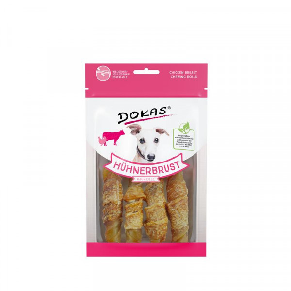 Dokas Hundesnack Hühnerbrust Kaurolle 90g