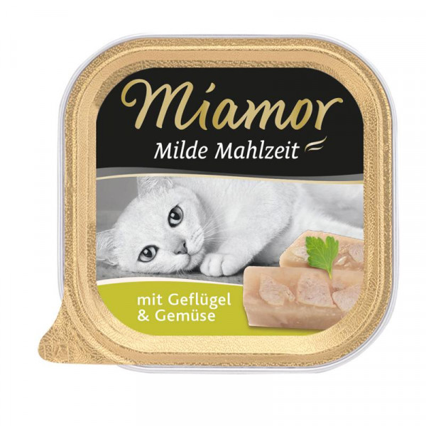 Miamor Schale Milde Mahlzeit Geflügel & Gemüse 100g
