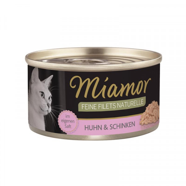 Miamor Feine Filets Naturelle Huhn & Schinken 80g