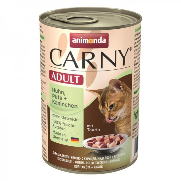 Animonda Cat Dose Carny Adult Huhn & Pute & Kaninchen 400g