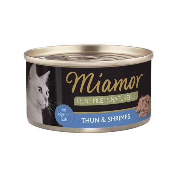 Miamor Feine Filets naturelle Thunfisch & Shrimps 80g
